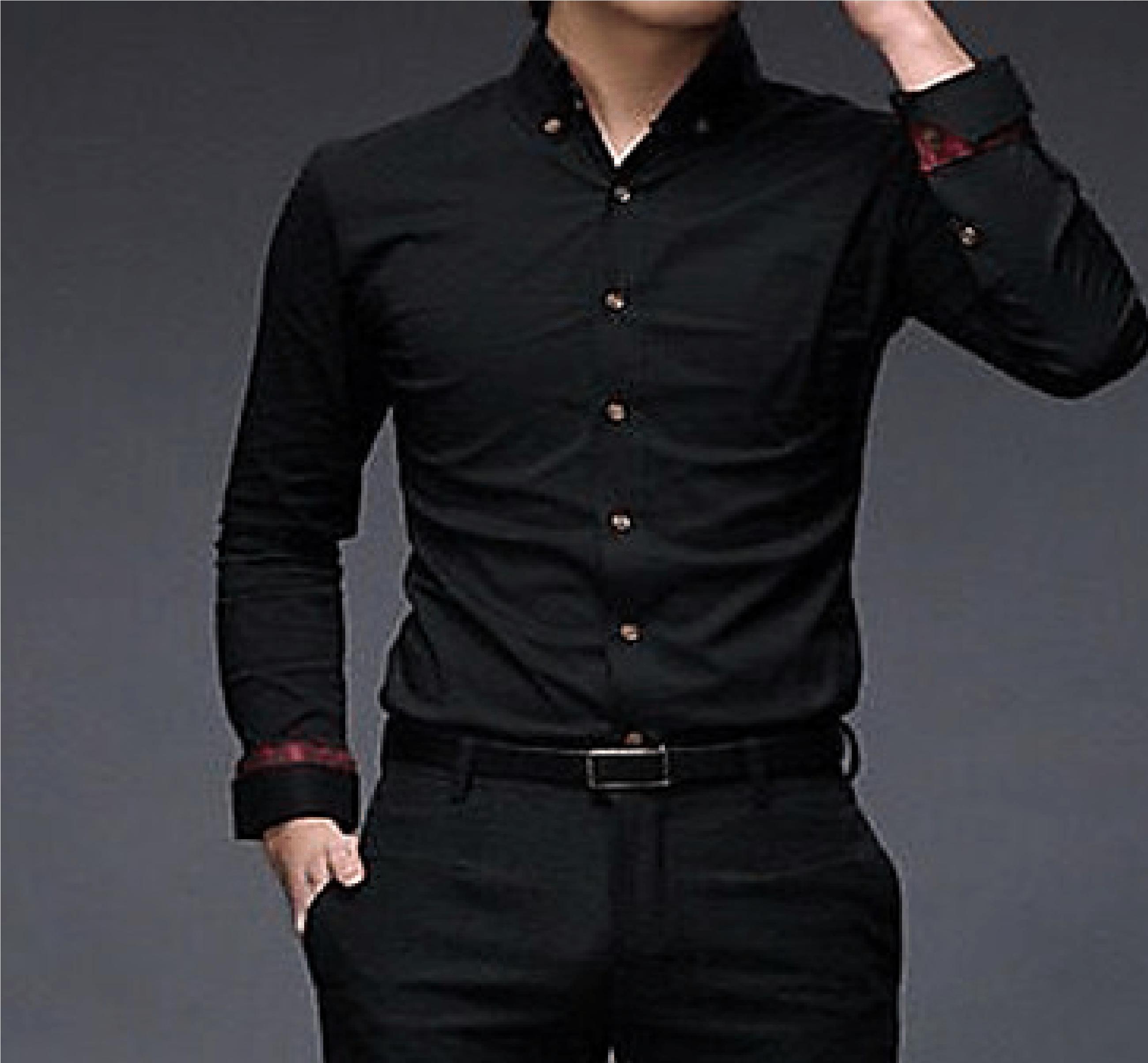 Más Tamaño 6XL Formales Negro Rayas Blancas Verticales