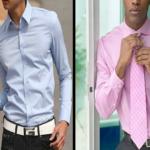 Colores de la camisa para hombres de piel morena…