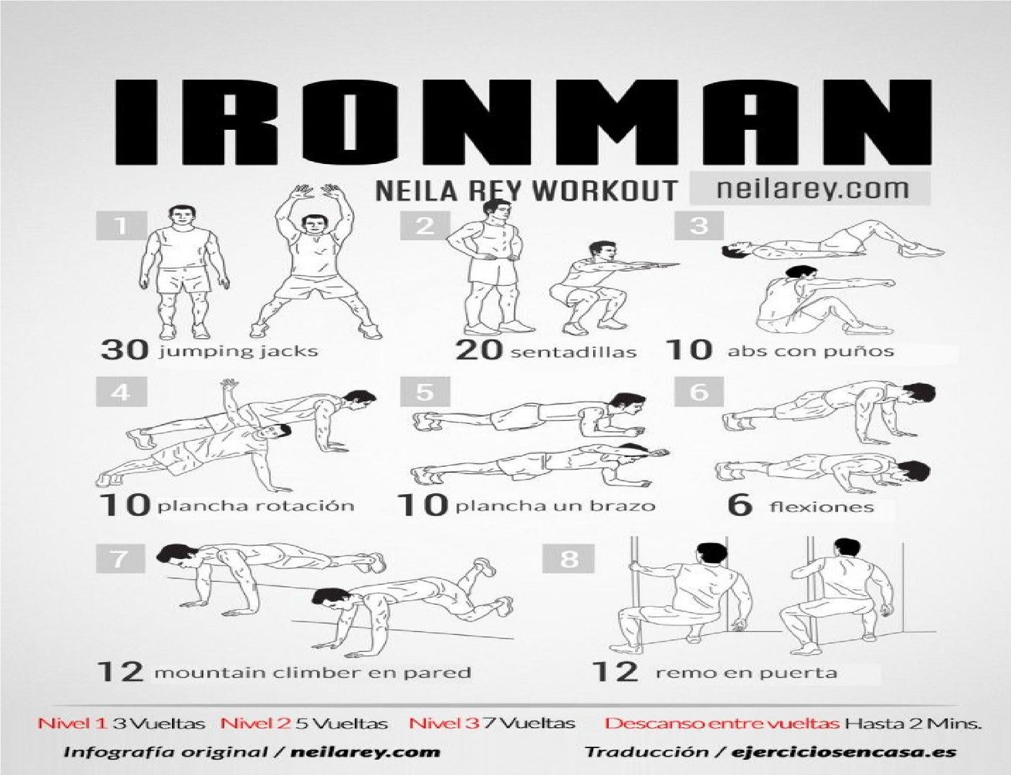 Ejercicios para hacer desde casa rutina fitness para - Ejercicios de gimnasio en casa ...