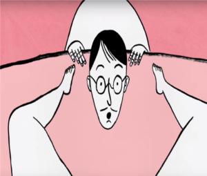 Los granos sobre la persona por la erosión del cuello uterino
